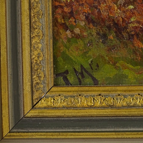 1296 - James McIntyre, oil on panel, May Hampstead, signed with monogram, also inscribed verso, 10