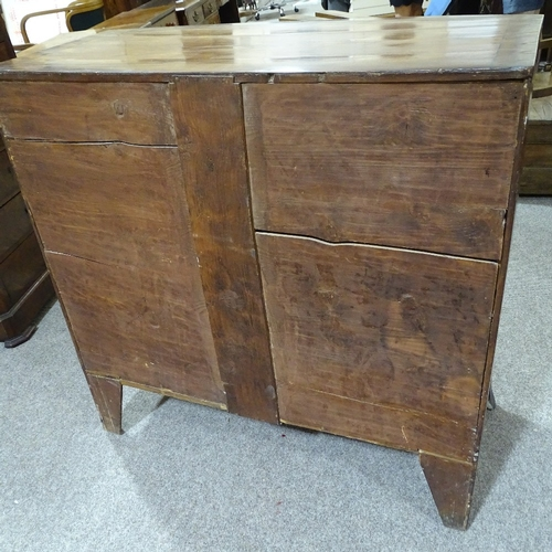 322 - A 19th century mahogany bow-front chest of drawers, width 106cm, height 106cm...