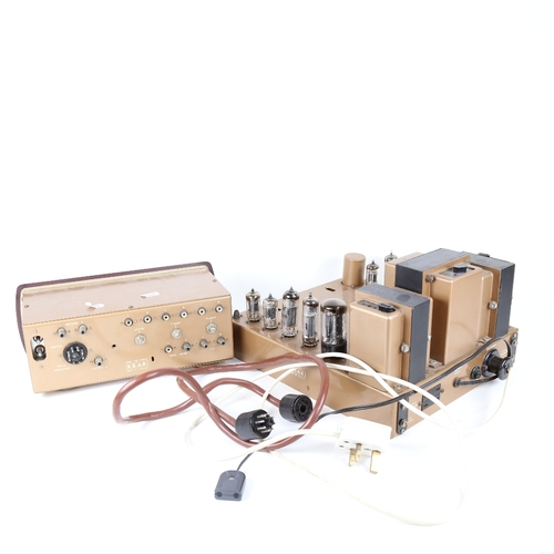 2 - LEAK - a Vintage Stereo 20 valve amplifier, and a matching Point One Stereo Pre-Amp (2)