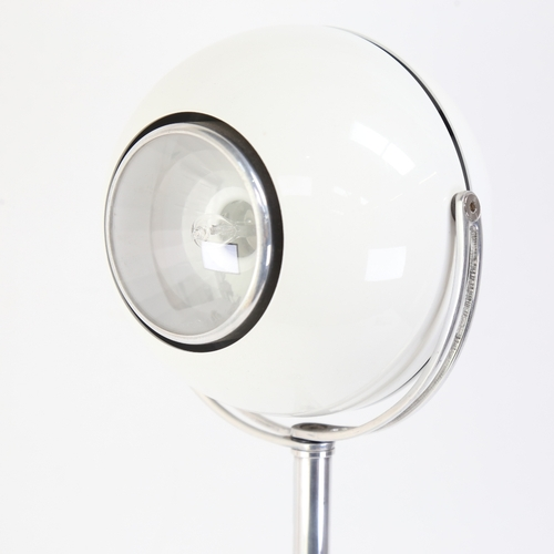 35 - A mid-century design articulated eyeball pendant ceiling lamp, with ball and socket base, overall le...