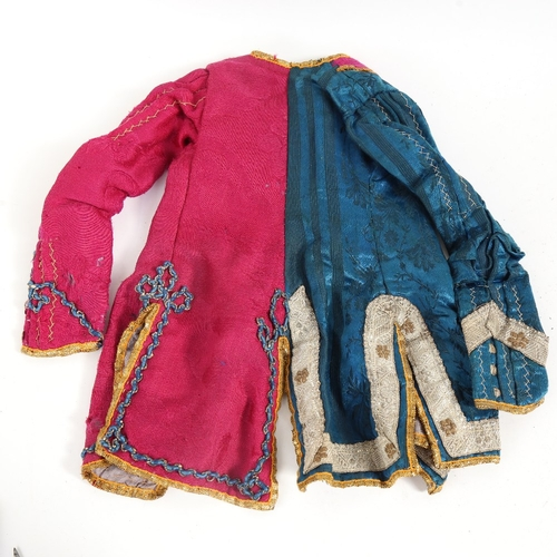 39 - An Antique hand stitched and embroidered miniature jacket, possibly for a performing monkey, height ...