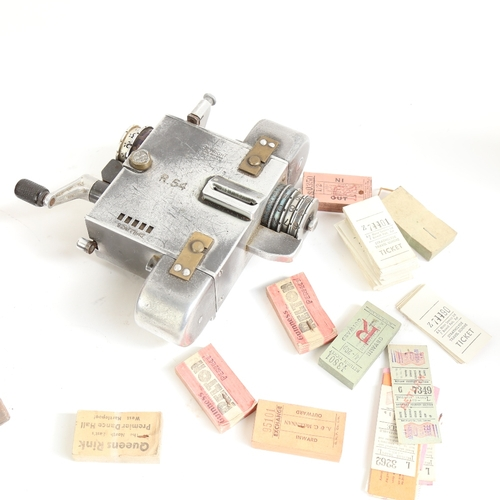 46 - A Vintage Setright Fare Register railway ticket machine, model R.54, boxed, with various ticket bund...