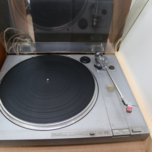 6 - SONY - a micro hi-fi component system model CMT-MX550i, automatic stereo turntable system model PS-L...