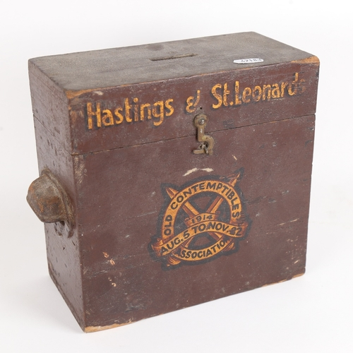 9 - A Hastings and St Leonards Old Contemptibles Association donation collection box, members of the Ass...