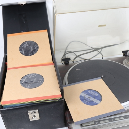 11 - PIONEER - a Vintage direct drive full automatic PL-505 turntable, original instruction booklet, and ...