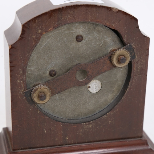 21 - A Vintage Jaeger of Paris dashboard 8-day clock, converted to a mantel clock, with black dial and Ro...