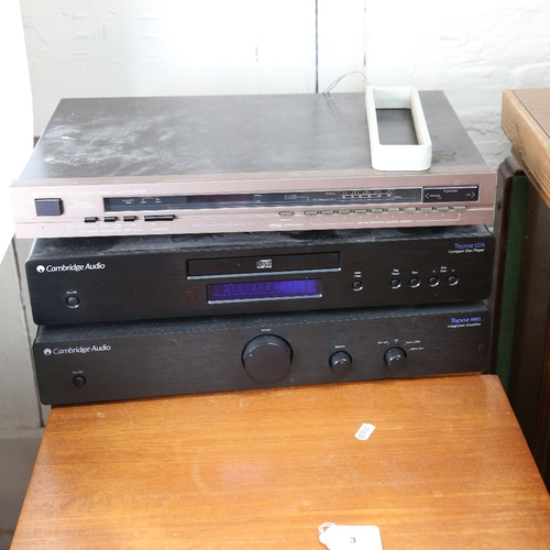 3 - Various Hi-Fi sound equipment, comprising pair of KEF Concerto floor standing loud speakers, Cambrid...