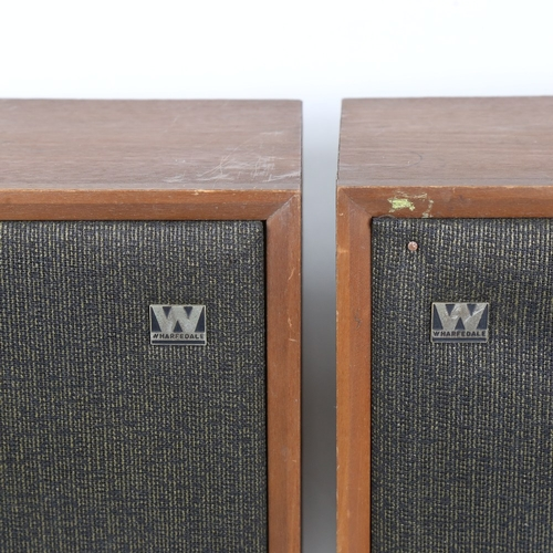 7 - WHARFEDALE - a Vintage pair of loud speakers, height 36cm