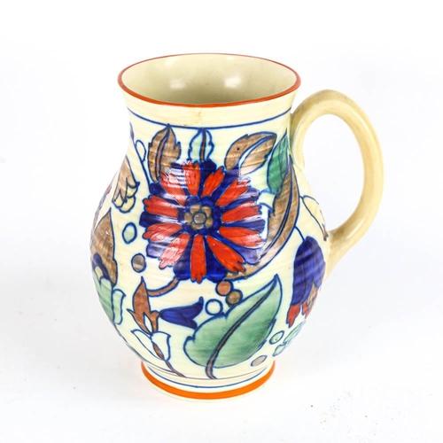 14 - An Art Deco Swansea Ware Irene pattern pottery jug, height 21cm