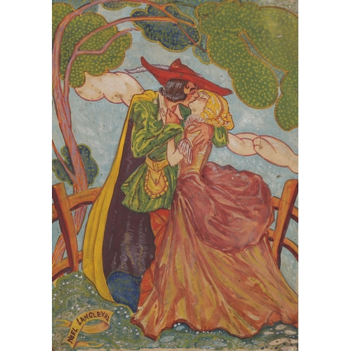 """Noel Langley (Wizard Of Oz scriptwriter), watercolour, illustration, Robin Hood, signed and dated 1931, image 14"""" x 10"""", unframed"""