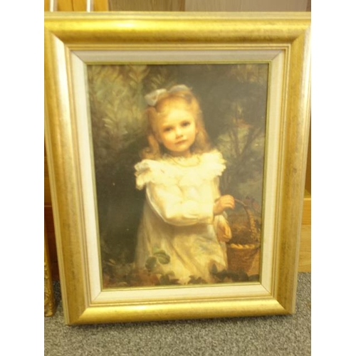 47 - Modern gilt frame with classical picture enclosed and a similar gilt frame with picture enclosed...
