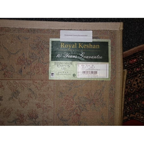 15 - 2 x modern rugs, a burgundy Pakistan 100% wool hand knotted carpet, 3' x 6' and a Royal Keshan rug s...