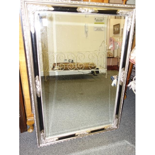 5 - 4' x 2' gilt decorative mirror with bevelled edge glass...