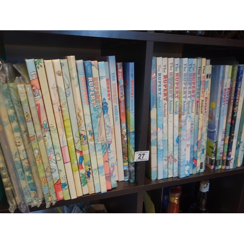 27 - Rupert The Bear Collectors Books, Annuals consecutive years from 1951 to 1987 virtually complete...
