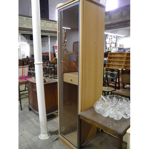 112 - Glass fronted display cabinet...