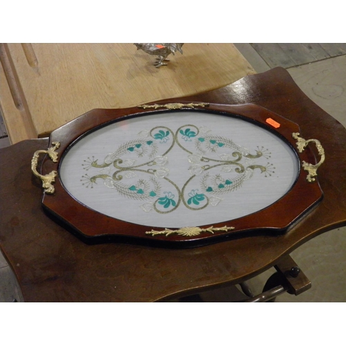 116 - Ornate serving tray...