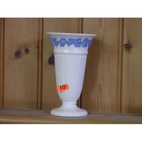 7 - Wedgwood Embossed Queens ware vase...