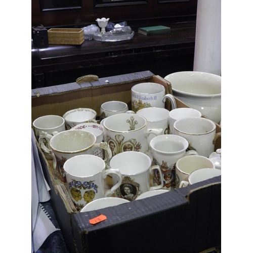 9 - collection of royal comemorative pottery...