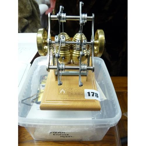 178 - Bohm Stirling Technik of Germany HB14 model pistons...