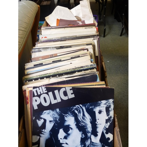 179 - Collection of Assorted Records inc. The Police, Talking Heads, Bowie etc...