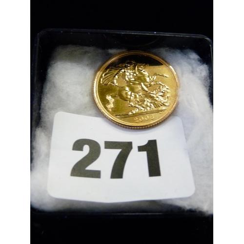 271 - 2006 Gold Sovereign...