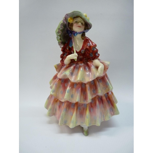 12 - Royal Doulton 'The Hinged Parasol' HN 1578 with green handpainted and stamped marks to base, 17cm in...