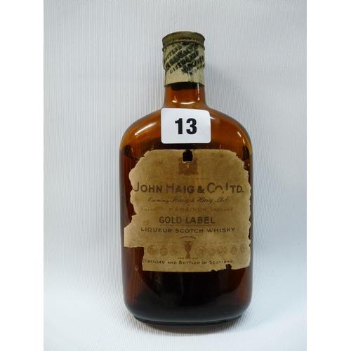 13 - Bottle of Vintage John Haig & Co Ltd Gold Label Scotch Whisky Liqueur...