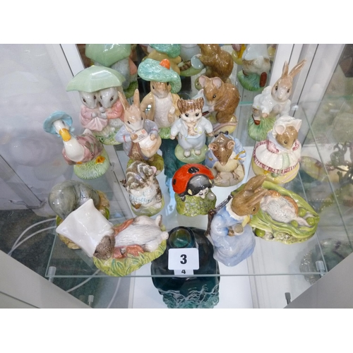 3 - Collection of 15 Royal Albert Beatrix Potter Brown backstamp figures...