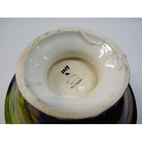 31 - Rare Storm Pattern Maling two handled tazza by Theo Maling dated 1931 Ref Maling by The Tyne & Wear ...