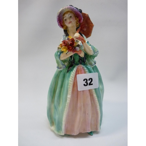 32 - Royal Doulton figurine June HN 1690, 19cm in Height...