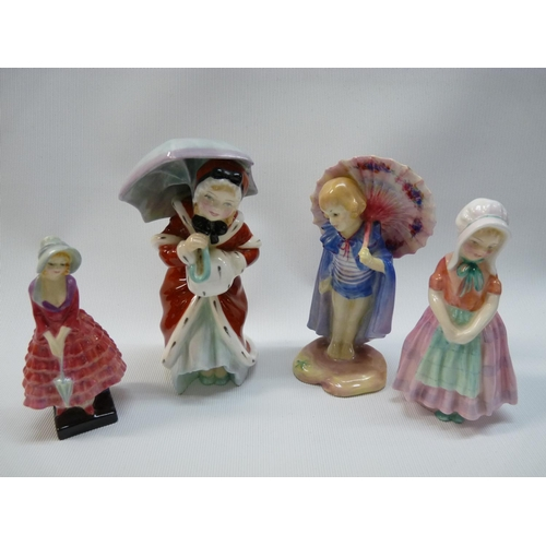 34 - 4 Royal Doulton figurines to include Miss Muffet HN 1936, Tootles HN 1680, Babette HN 1424 & Priscil...