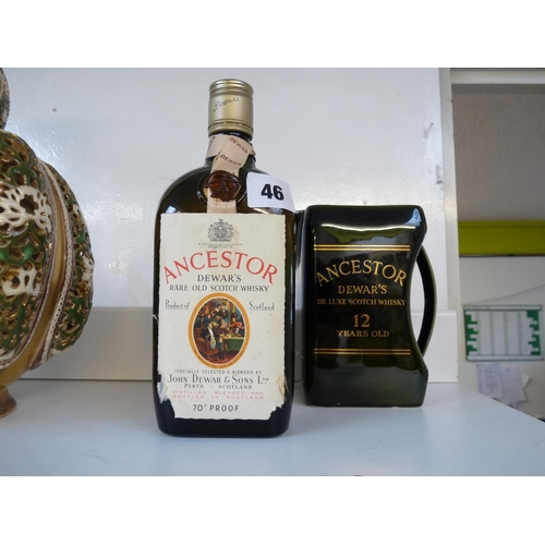 46 - Bottle of Ancestor Dewars Whisky Rare Old Scotch Whisky with seal...