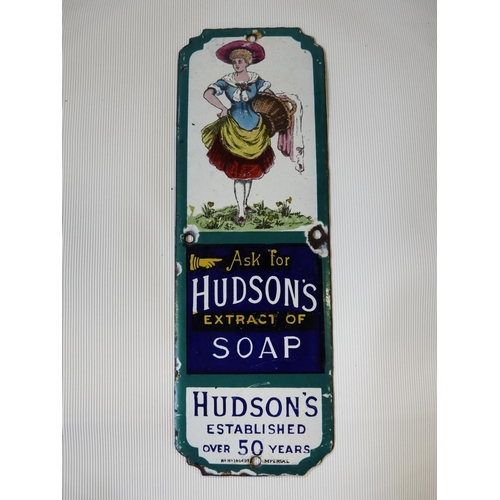 4 - Original Hudsons Extract of Soap Enamel Shop advertising sign...
