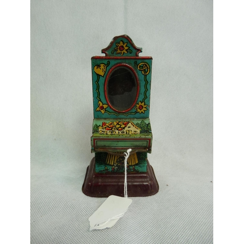 223 - Early 20thC Tin Plate Chocolate dispenser. 14cm in Height...