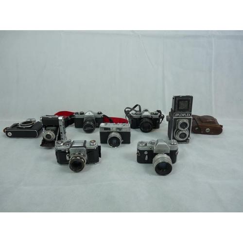 59 - Collection of assorted Cameras inc. Pentax, Minolta, Zenit, Oplenflex etc...