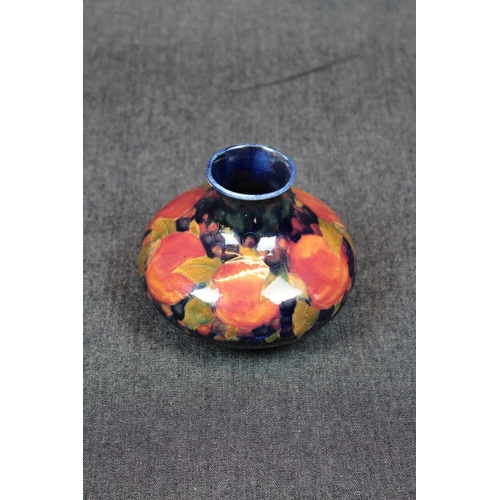 15 - Moorcroft Pomegranate Squat Vase,Signed to base with impressed mark, 11cm in Height. Condition - Res...