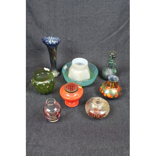 5 - Collection of assorted 19thC and later coloured Studio glassware inc. Vases, bowls etc. Condition - ...