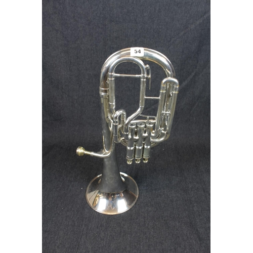 54 - Boosey & Hawkes of London Sovereign Euphonium in Besson Case. Condition - Some Dents...