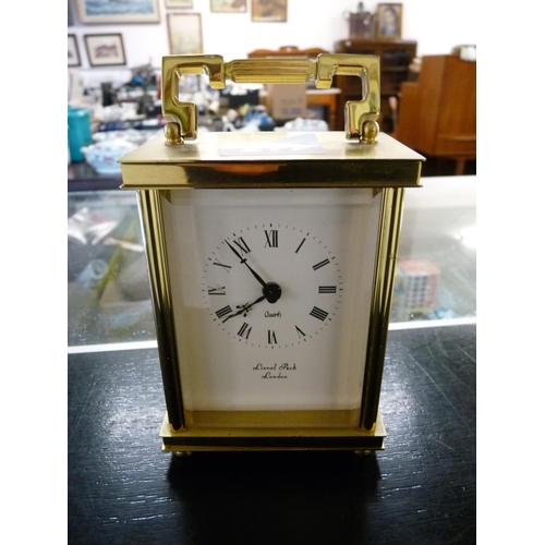 272 - Brass Lionel Peck of London Carriage clock...
