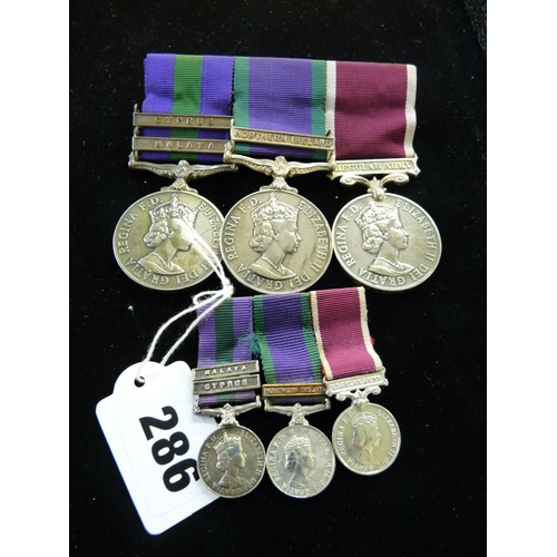 286 - Queen Elizabeth II 3 Medal group for PTE R P BOOTHMAN INT CORPS 232283 with matching miniatures...