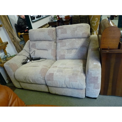 42 - Tara Lazy boy 2 seater sofa with electric reclining...