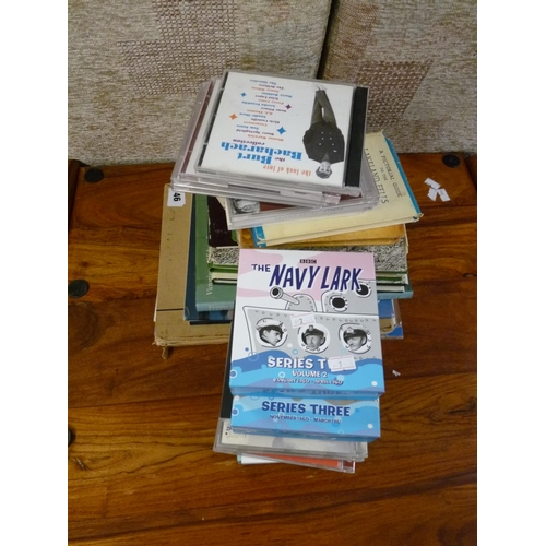 46 - Collection of The Navy Lark CDs and assorted books...