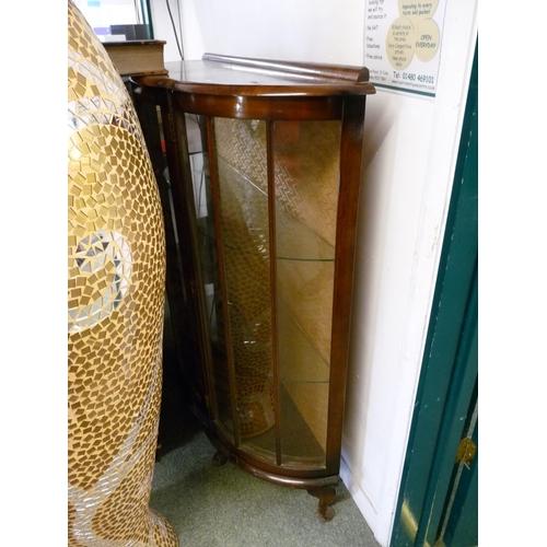 49 - Walnut glazed china cabinet...