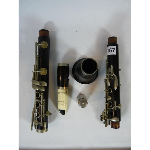 167 - Boosey & Hawkes Clarinet with plated detail stamped  34807...