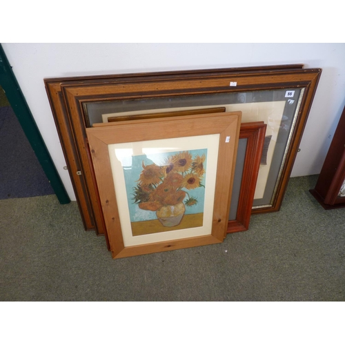 55 - Collection of assorted framed pictures and prints...