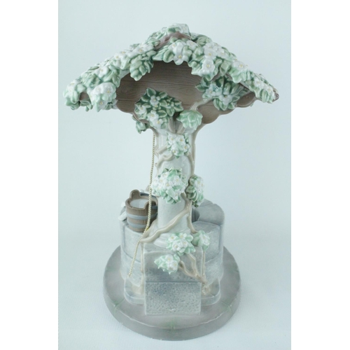 18 - Rare Signed Lladro 'Snow Whites Wishing Well', Stamped to Base 'May 26th 1995 A Magical Evening' Scu...