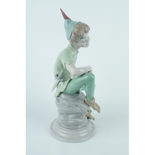 19 - Rare Signed Lladro 'Peter Pan', Limited Edition 569 of 2000, Stamped Official Disneyana Convention 1...
