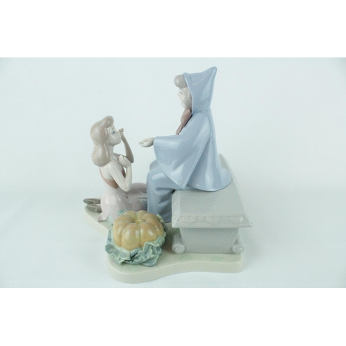 23 - Signed Lladro 'Cinderella and Fairy Godmother', Limited Edition 1882 of 2500, Sculptor: Francisco Po...