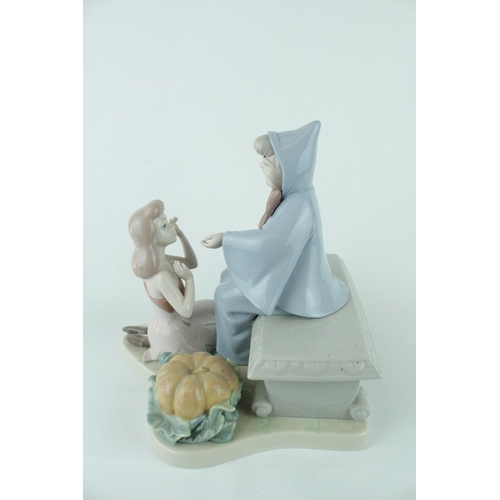 24 - Signed Lladro 'Cinderella and Fairy Godmother', Limited Edition 1312 of 2500, Sculptor: Francisco Po...