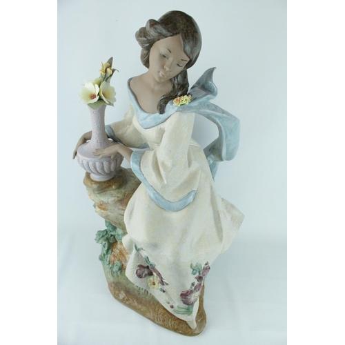 29 - Lladro 'Garden Breeze', in Gres Finish, Privilege Limited Edition 567 of 1500, Sculptor: Francisco P...